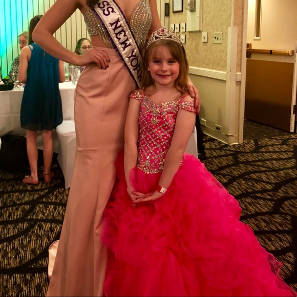 637fa3e87e93 Ritzee Girl Dresses   Size 8 Pageant Ball Gown Pink Azalea   Poshmark